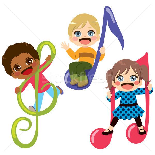 Stock photo: Children Musical Note
