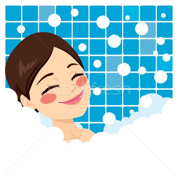 Bathing Woman Relaxing Stock photo © Kakigori