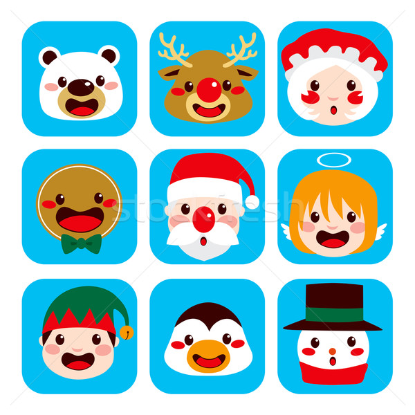 Christmas Character Faces Stock photo © Kakigori