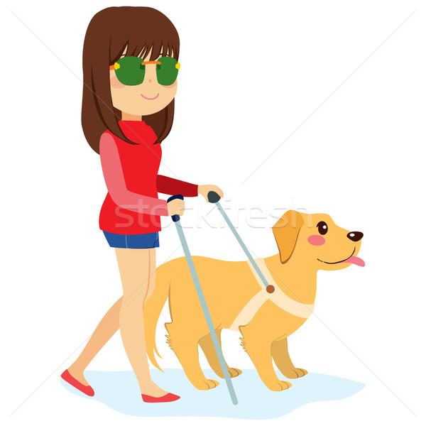 Blind Woman With Dog Stock photo © Kakigori