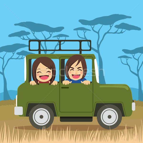 Safari Travel Couple Stock photo © Kakigori