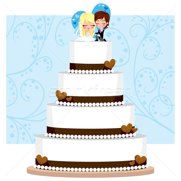 Chocolate Wedding Cake Stock photo © Kakigori