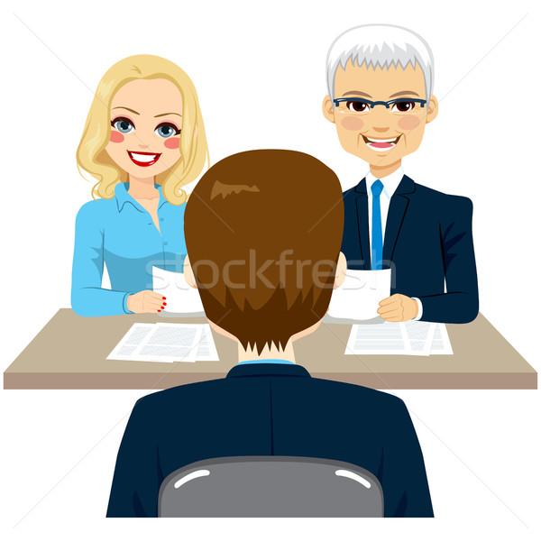 Trabalho recrutamento negócio pessoal entrevista de emprego homem Foto stock © Kakigori
