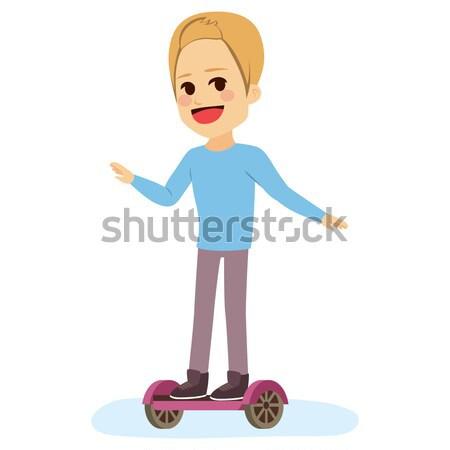 Teenager Self Balancing Scotter Stock photo © Kakigori