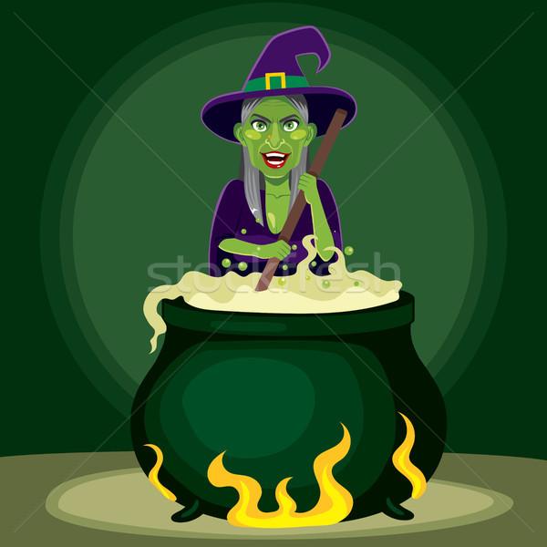 Gonosz boszorkány üst öreg mágikus méreg Stock fotó © Kakigori