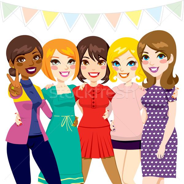 Women Friends Party Stock photo © Kakigori