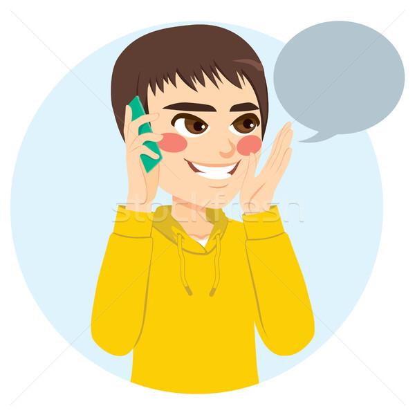 Boy Talking Phone Stock photo © Kakigori