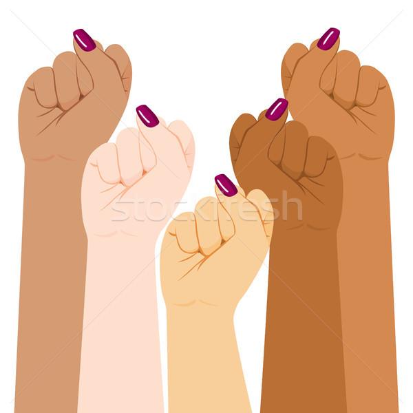 международных женщину разнообразия кулаком день Сток-фото © Kakigori