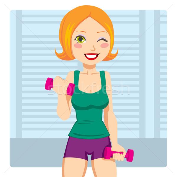 Fitness Weight Exercise Stock photo © Kakigori