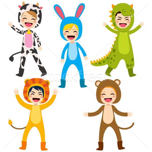 Animal Costume Children Stock photo © Kakigori