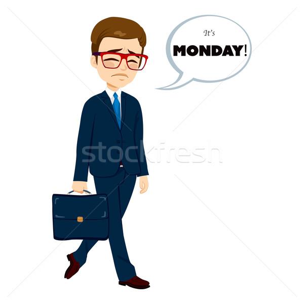 Monday Sad Walking Businessman Stock photo © Kakigori
