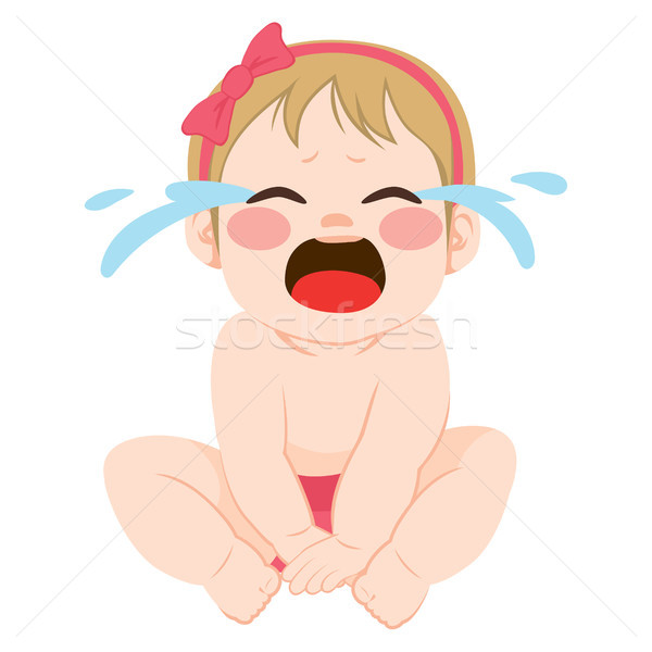Baby Girl Crying Stock photo © Kakigori