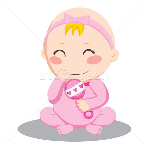 Baby Girl Rattle Stock photo © Kakigori