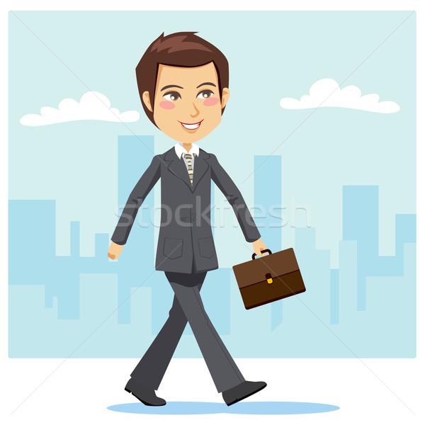 Young Active Businessman Stock photo © Kakigori