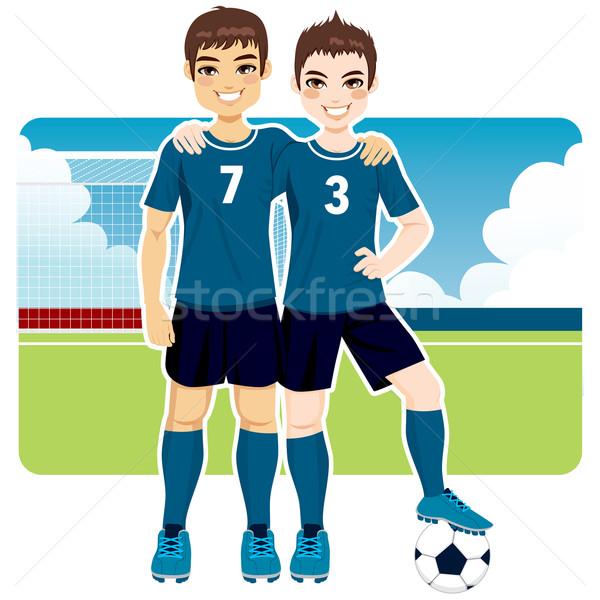 Soccer Team Friends Stock photo © Kakigori