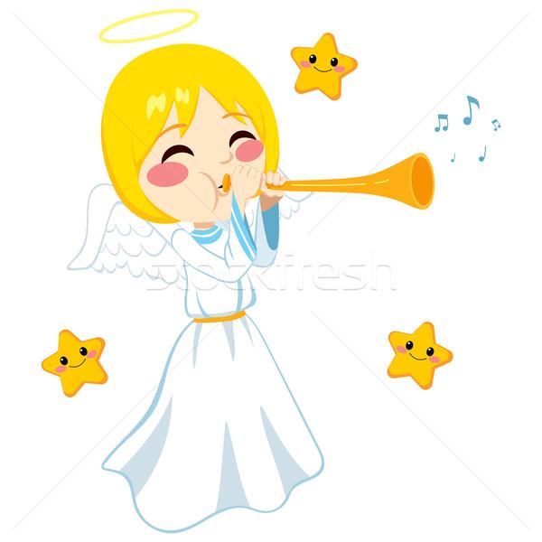 Angel Sounding Trumpet Stock photo © Kakigori