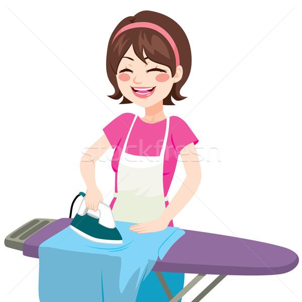 House Woman Ironing Stock photo © Kakigori