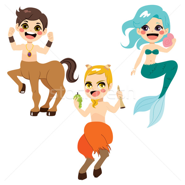 Mythology Character Collection Stock photo © Kakigori
