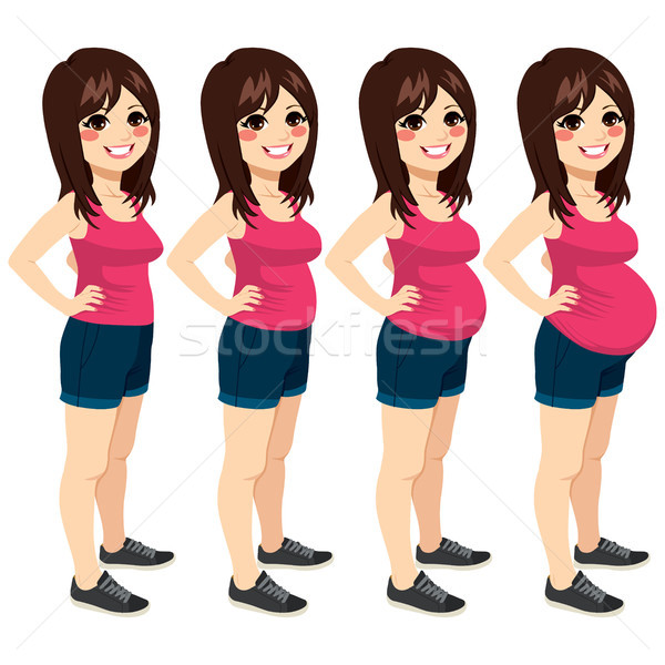 Woman Pregnancy Stages Stock photo © Kakigori