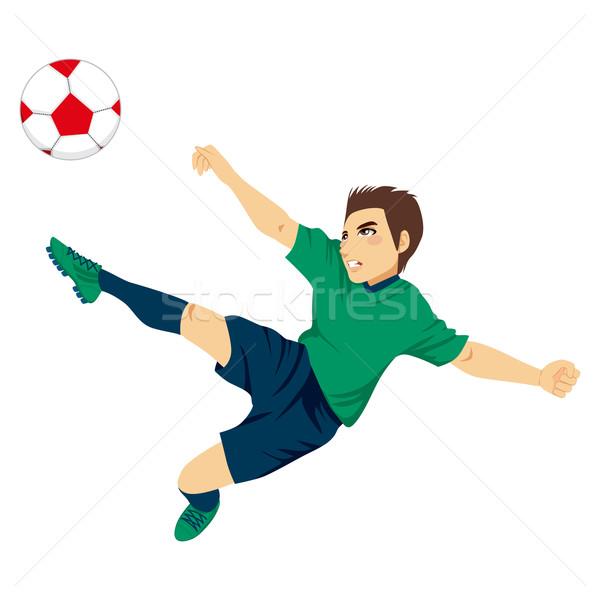 Soccer Player Jumping Stock photo © Kakigori