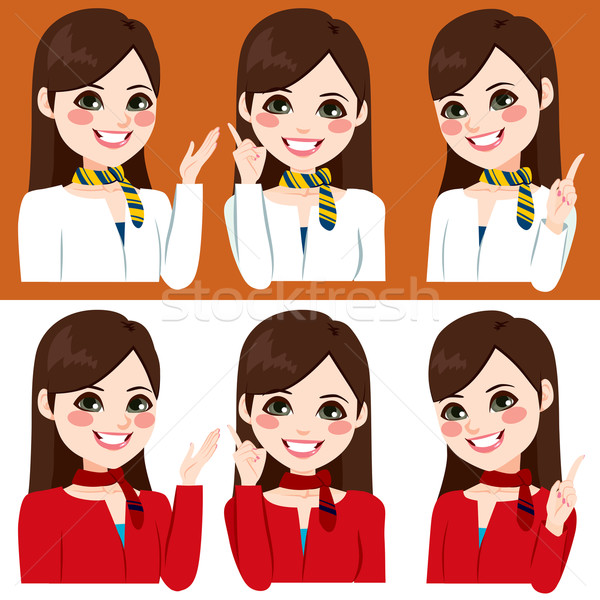 Stewardess Hands Expression Stock photo © Kakigori