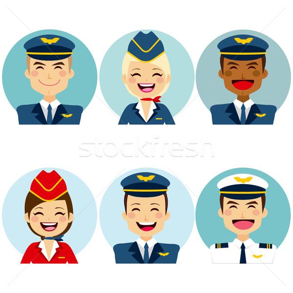 Lucht crew professionele lid business vrouw Stockfoto © Kakigori