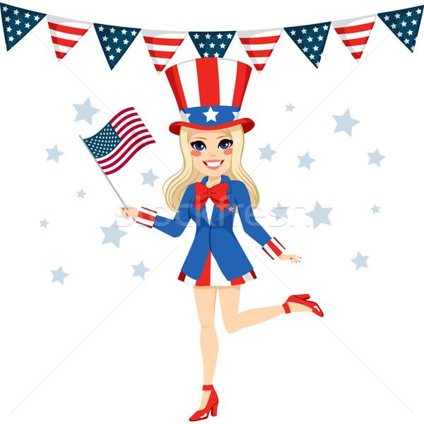 Uncle Sam Woman Disguise Stock photo © Kakigori