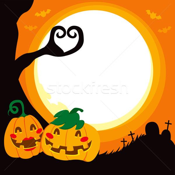 Halloween Pumpkin Love Stock photo © Kakigori