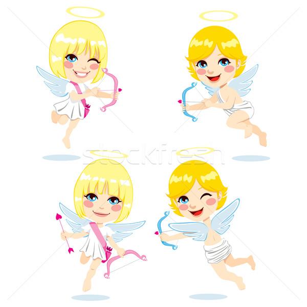 édes gyerekek szett aranyos gyerekek játszanak jelmez Stock fotó © Kakigori