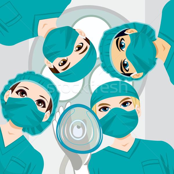Tıbbi takım çalışma cerrahi doktor Stok fotoğraf © Kakigori