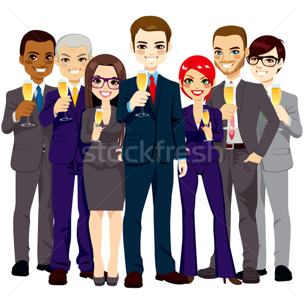 Successful Business Team Toasting Stock photo © Kakigori