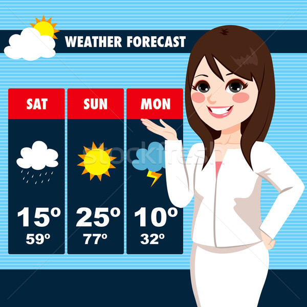 TV News Weather Reporter Woman Stock photo © Kakigori