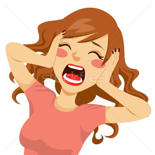 Stock photo: Desperate Screaming Woman