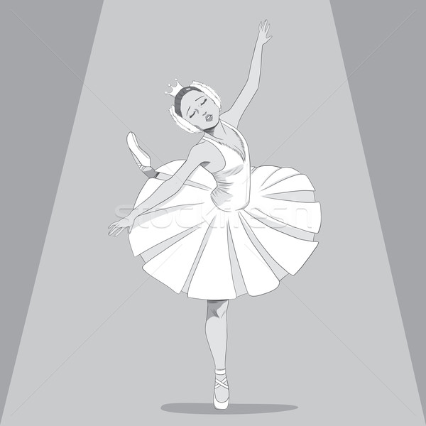 Bailarina Preto Branco Desenho Ilustracao Danca