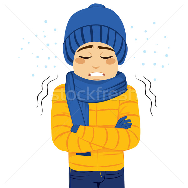 Man Freezing Shivering Stock photo © Kakigori