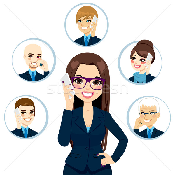 Business Contacts Concept Stock photo © Kakigori