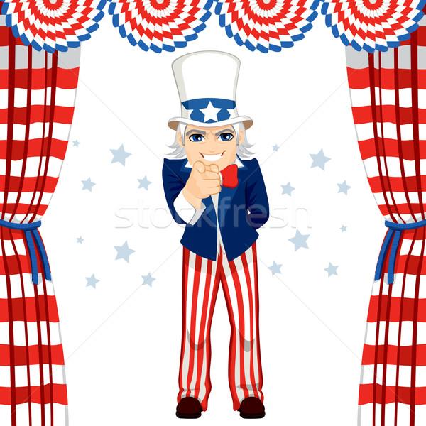 4th Of July Uncle Sam Stock photo © Kakigori