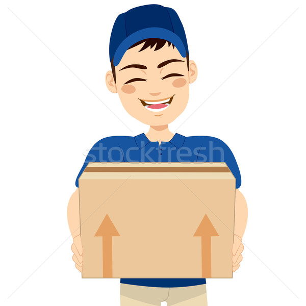Delivery Man Delivering Mail Package Stock photo © Kakigori