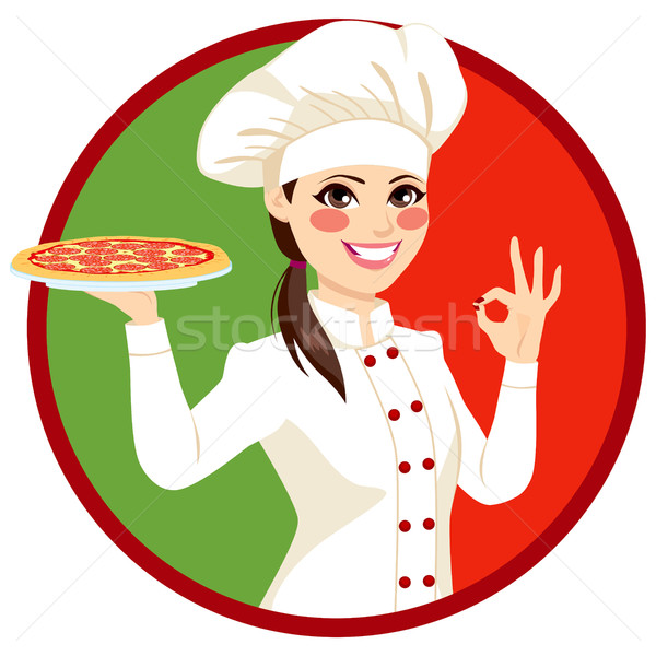 Weiblichen italienisch koch jungen k chenchef for Koch italienisch