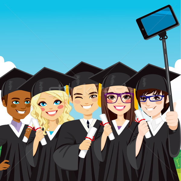 Graduation Group Selfie Stock photo © Kakigori
