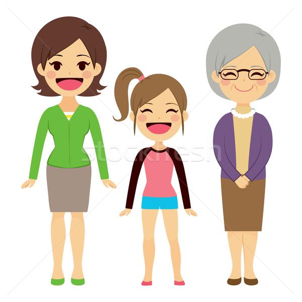 Három generáció nők illusztráció generációk különböző Stock fotó © Kakigori