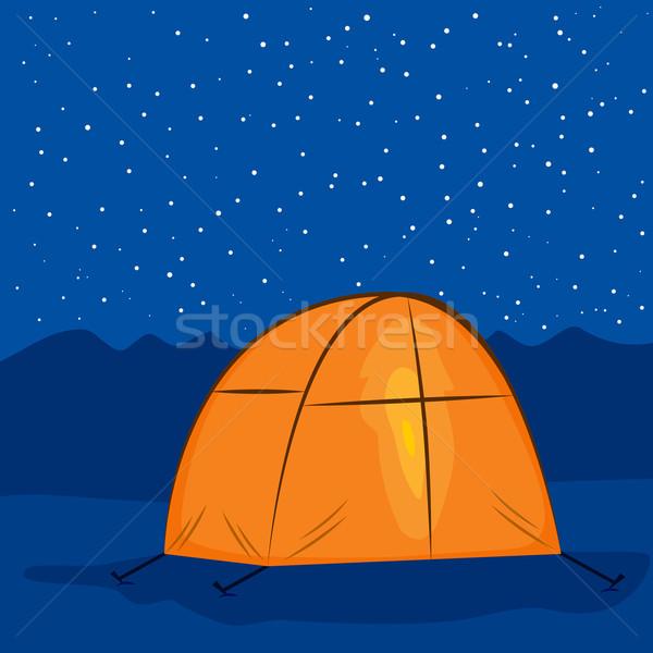 Camping Tent Night  Stock photo © Kakigori