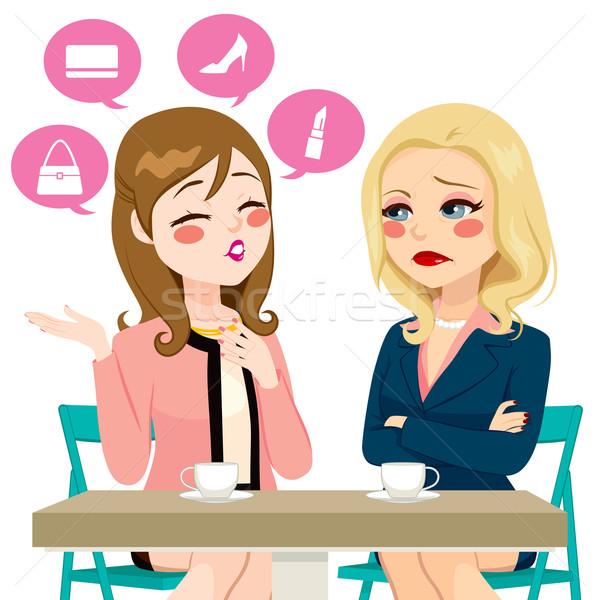 Women Boasting Gossiping Stock photo © Kakigori