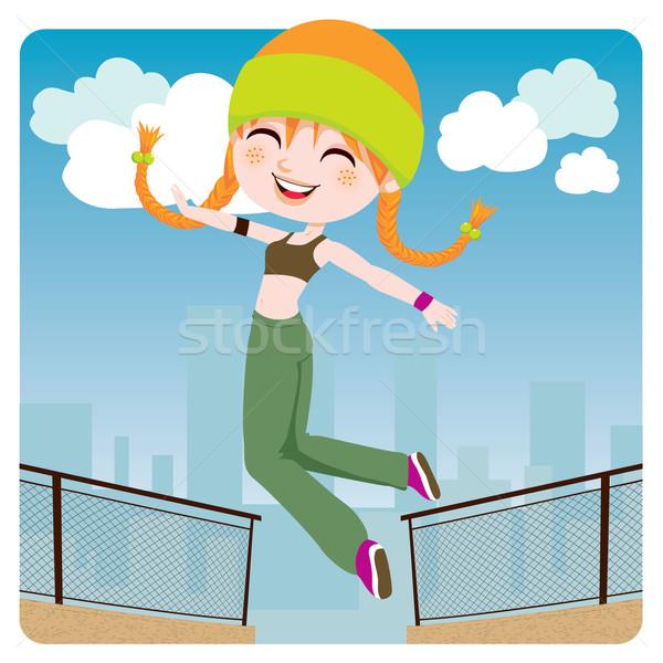 Jumping Girl Stock photo © Kakigori
