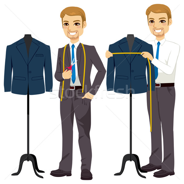 Stock photo: Tailor Measuring Bust