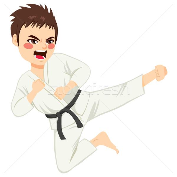 Karate Boy Jump Stock photo © Kakigori