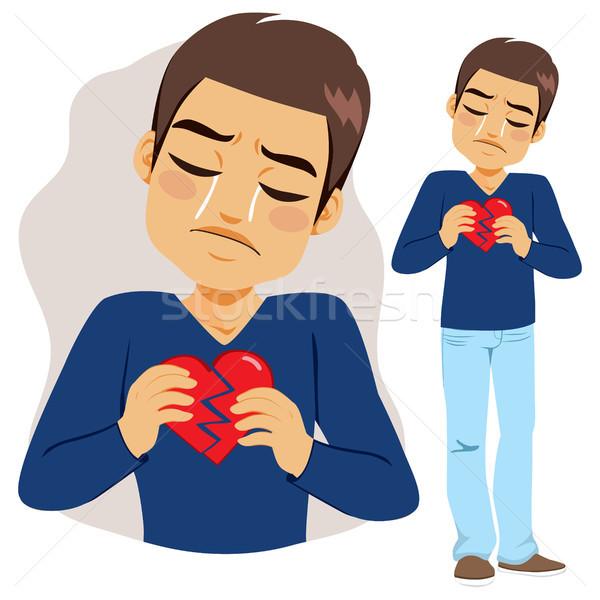 Man Broken Heart Stock photo © Kakigori