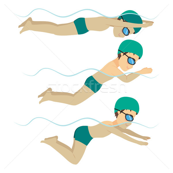 Swimming Man Breaststroke Style Stock photo © Kakigori