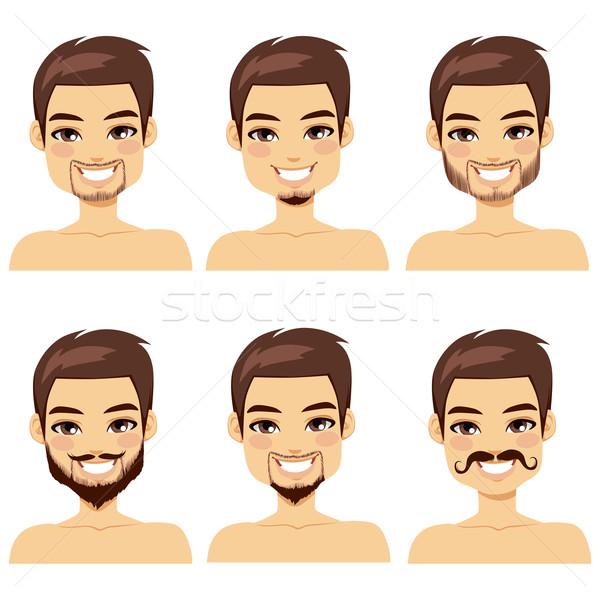 Brown Haired Man Beard Styles Stock photo © Kakigori