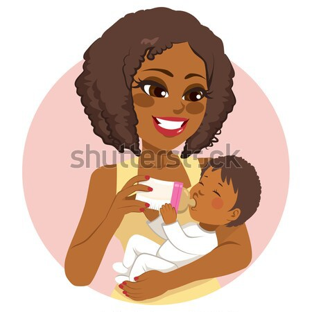 African American Breastfeeding Mother Stock photo © Kakigori